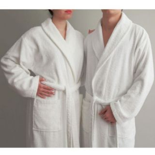 Luxury Hotel & Spa White Terry Cloth 100% Turkish Cotton Unisex Bathrobe   Bath Robes