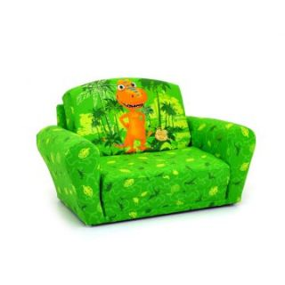 Kidz World Dinosaur Train   Buddy Green Sleepover Sofa   Seating