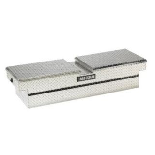 Tradesman Mid size Truck Aluminum Cross Bed Gull Wing Push Button Tool Box   Truck Tool Boxes