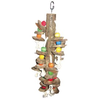A&E Cage Co. Cylinder and Wood Bird Toy   Bird Cage Accessories