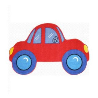 L.A. Rugs Red Car Kids Area Rug   Assorted Colors   Kids Rugs