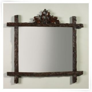 Oklahoma Casting Large Oak Leaf Bevel Wall Mirror   Wall Mirrors