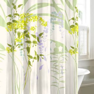 City Scene Mixed Floral Shower Curtain   Shower Curtains
