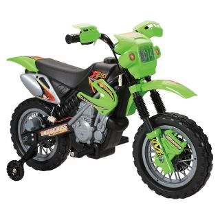 Fun Wheels Dirt Bike Battery Operated Riding Toy   Green   Battery Powered Riding Toys