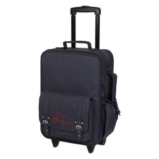 Lassig Kids Mini Rolling Trolley Bag   Navy Motor Scooter   Luggage