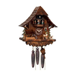 River City Clocks MD462 14 Beer Drinker with Moving Waterwheel & Dancers Musical Cuckoo Clock   Cuckoo Clocks
