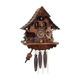 River City Clocks MD464 14 Boy on Rocking Horse with Moving Waterwheel & Dancers Musical Cottage Cuckoo Clock   Cuckoo Clocks