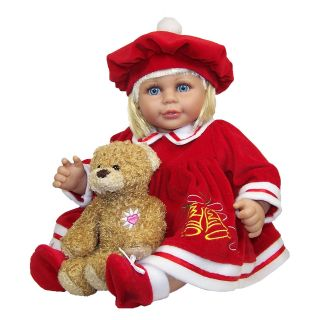 Molly P. Originals Merry 18 in. Doll with Daisy Bear   Baby Dolls