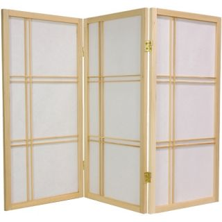 Desktop Double Cross 36 Inch Shoji Screen   Room Dividers