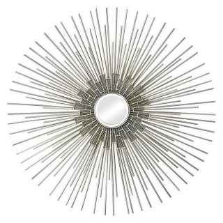 Ren Wil Silver and Gold Wall Mirror   35 diam.in.   Wall Mirrors