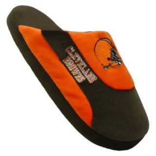 Comfy Feet NFL Low Pro Stripe Slippers   Cleveland Browns   Mens Slippers