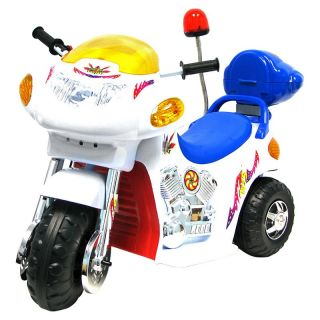 EZ Riders White Knight Motorcycle Battery Powered Riding Toy   Battery Powered Riding Toys