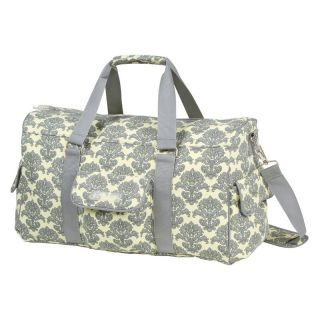 Bumble Collection Jennifer Weekender Diaper Bag in Yellow Filagree   Tote Diaper Bags