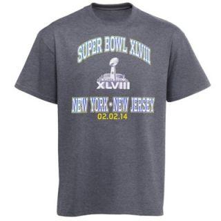 Super Bowl XLVIII Heart Soul II T Shirt   Charcoal