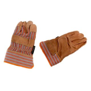 Jemcor Full Grain Cow Grain 2.25 in. Band Top Heavy Duty   Size Large   Work Gloves