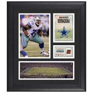 Mackenzy Bernadeau Dallas Cowboys Framed 15 x 17 Collage with Game Used Football