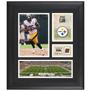 Ryan Clark Pittsburgh Steelers Framed 15 x 17 Collage with Game Used Football