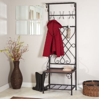 Loring Entryway Storage Rack Hall Tree   Hall Trees