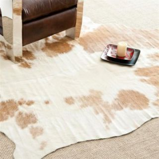 Safavieh COH211A 5 Cow Hide Rug   Brown / White   4.5 x 6.5 ft.   Area Rugs