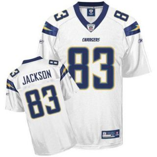 Reebok NFL Equipment San Diego Chargers #83 Vincent Jackson White Replica Football Jersey