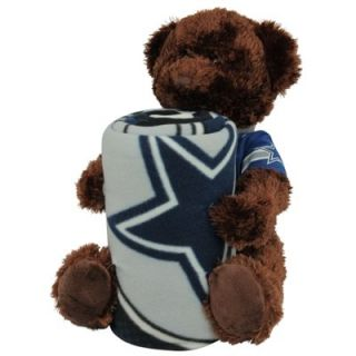 Northwest Dallas Cowboys 40 x 50 Fleece Blanket with Bear