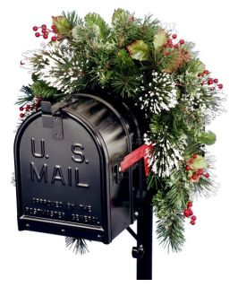 3 ft. Wintry Pine Unlit Mailbox Swag   Swags & Garland
