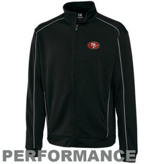 Cutter & Buck San Francisco 49ers Logo DryTec Edge Performance Full Zip Jacket   Black