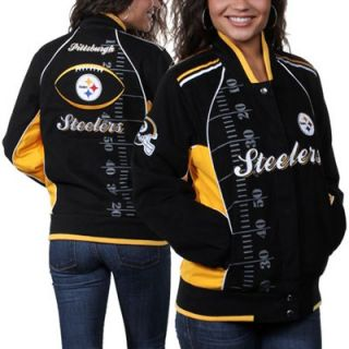 Pittsburgh Steelers Ladies Franchise Twill Jacket   Black/Gold