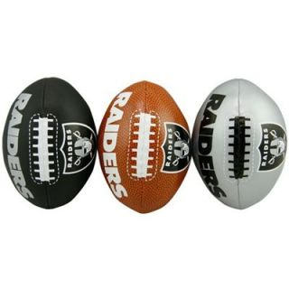 Oakland Raiders Softee 3 Football Set