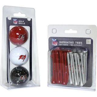 Team Golf Tampa Bay Buccaneers Imprinted Golf Balls and Tees Set