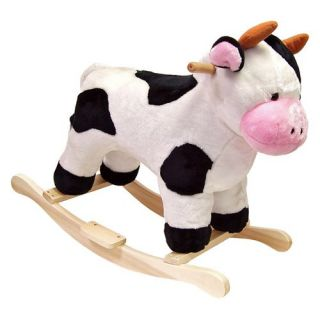 Happy Trails Cow Plush Rocking Animal   Rocking Toys