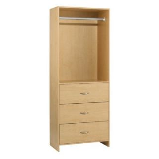 akadaHOME 3 Drawer Wardrobe Closet Tower   Closet Organizers