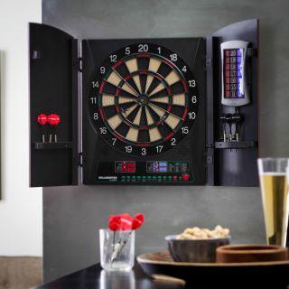 Bullshooter by Arachnid Crickettmaxx 1.0 Electronic Dart Board in Cabinet   Electronic Dart Boards