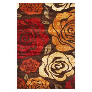KAS Rugs LIF5479 Lifestyles Area Rug   Mocha Rose   Area Rugs