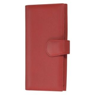 Royce Leather Womens Credit Card Clutch   Red   Business Accessories
