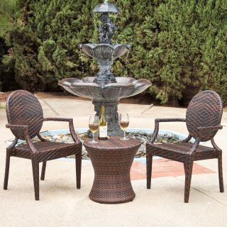 Adriana All Weather Wicker Outdoor Chat Set   Conversation Patio Sets