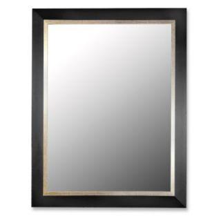 Contempo Satin Black and Gold Wall Mirror   Wall Mirrors