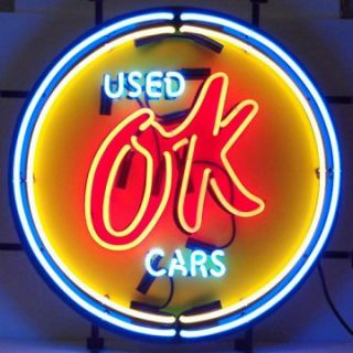 Chevy Vintage OK Used Cars Neon Sign   Neon Signs