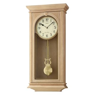 Seiko QXH048BLH Dual Chime Pendulum Wall Clock   12.75W in.   Wall Clocks