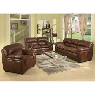 A C Pacific Joyce Leather Chair   Brown   Leather Club Chairs