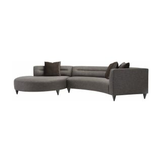 Lazar Calcutta Gray Upholstered Sectional Sofa with Accent Pillows   Sectional Sofas