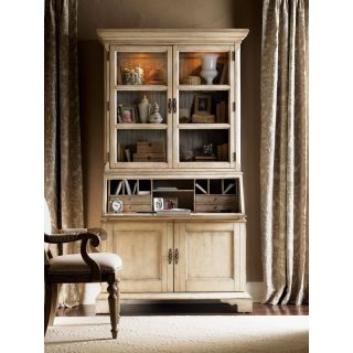 Lexington Twilight Bay Colette Secretary Desk with Hutch   Antique Linen   Writing Desks