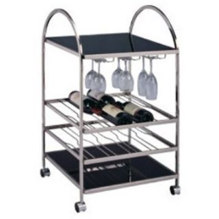 Roaring 20's 16 Bottle Wine & Serving Cart   Serving Carts