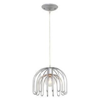 Varaluz Clyde 1 Light Mini Pendant   10W in. Painted Chrome   Ceiling Lights