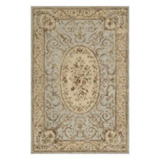 Momeni Chateau CU 02 Aubusson Area Rug   Light Blue   Area Rugs