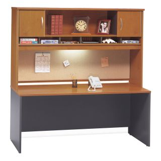 Bush Series C 72 Inch Credenza with 2 Door Hutch   Computer Desks