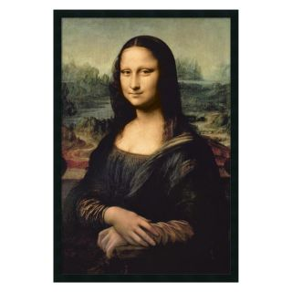 Leonardo DaVinci's Mona Lisa Framed Wall Art by Leonardo da Vinci   25.41W x 37.41H in.   Framed Wall Art
