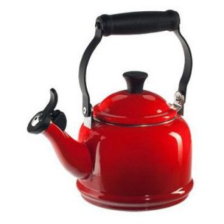 Le Creuset Demi 1.25 qt. Stainless Steel Whistling Teakettle   Cherry   Stove Top Tea Kettles