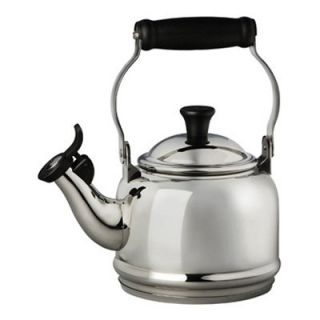 Le Creuset Demi 1.25 qt. Stainless Steel Whistling Teakettle   Stainless Steel   Stove Top Tea Kettles