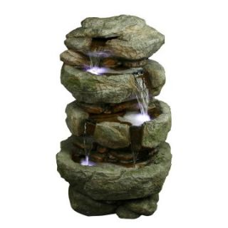 Yosemite Home Decor 32 in. Tiered Rock Fountain   Fountains
